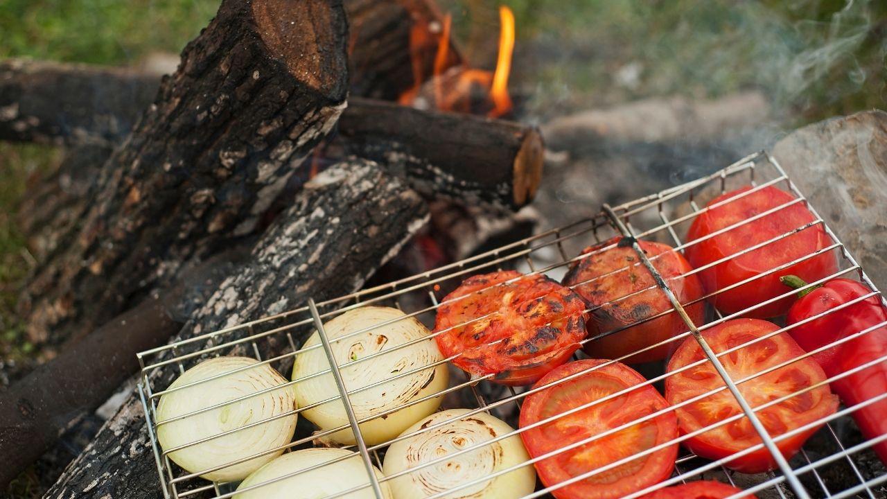 Roast Vegetables Over a Campfire
